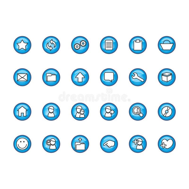 Download Icons set stock illustration. Illustration of disc, internet - 103332