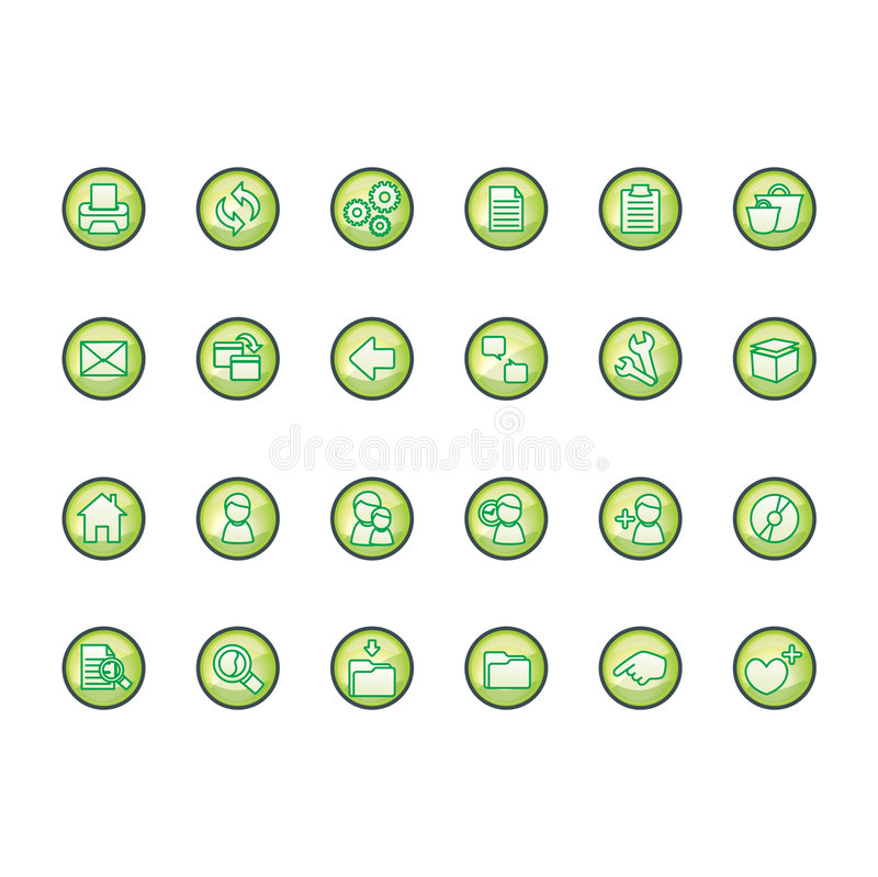 Icons set. Green icons set (Everything depicted within this illustration is designed by me - Bsilvia