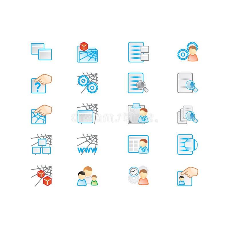 Download Icons set stock illustration. Illustration of hand, home - 103353