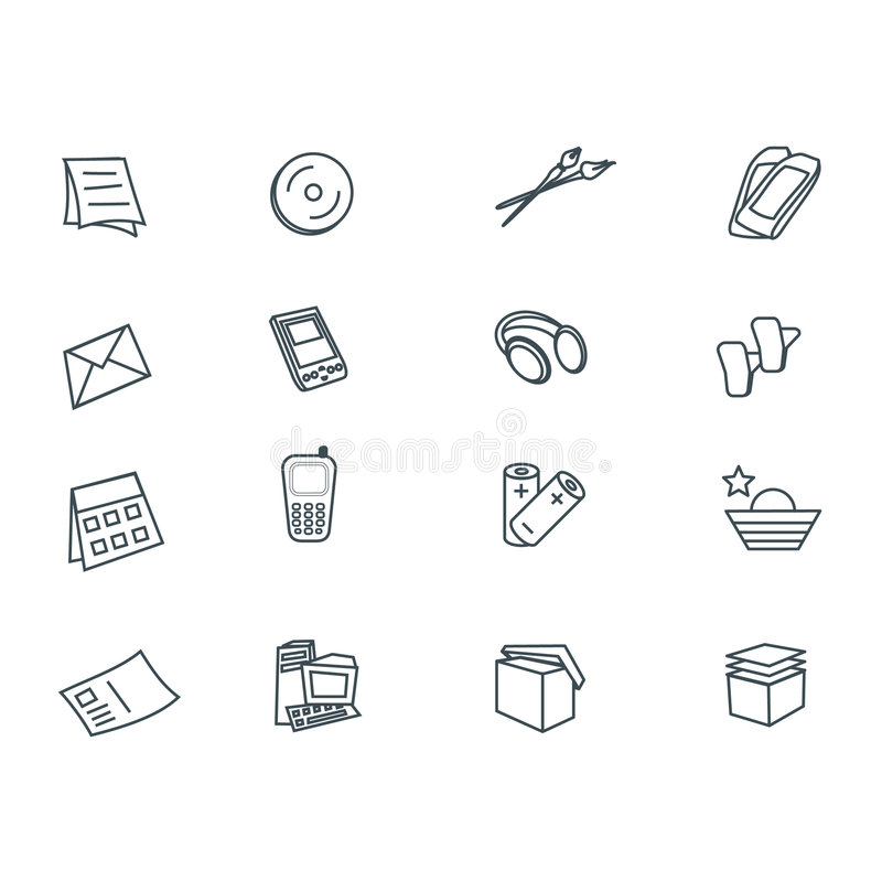 Download Icons set stock illustration. Illustration of computer - 103360