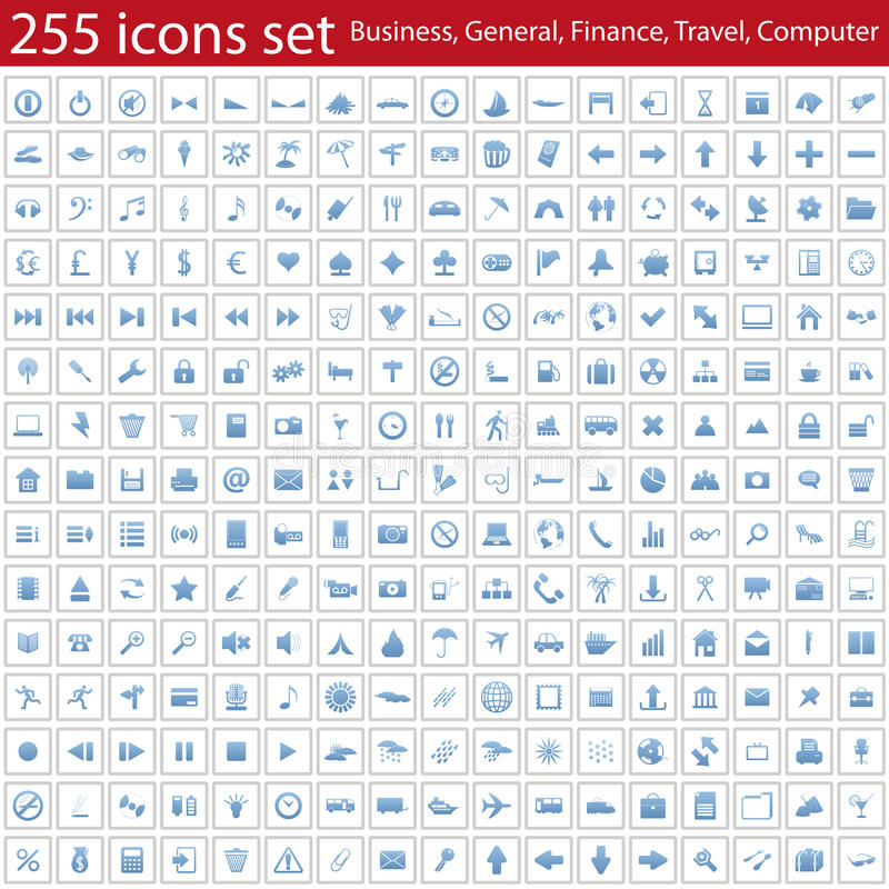 Icons set stock illustration