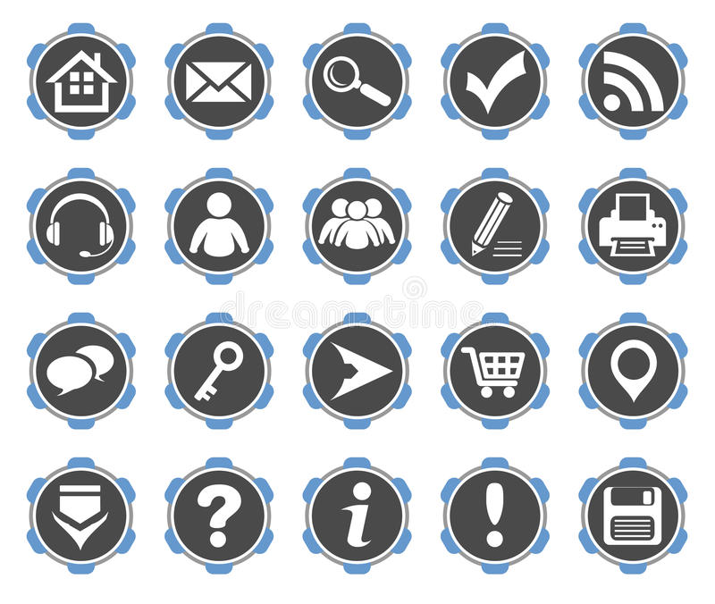 Download Icons set #2 stock vector. Image of download, link, search - 26310604
