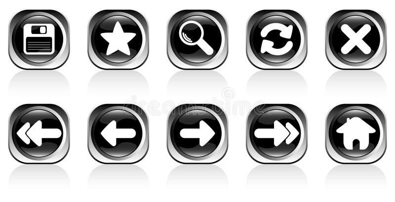 Icons set stock photography