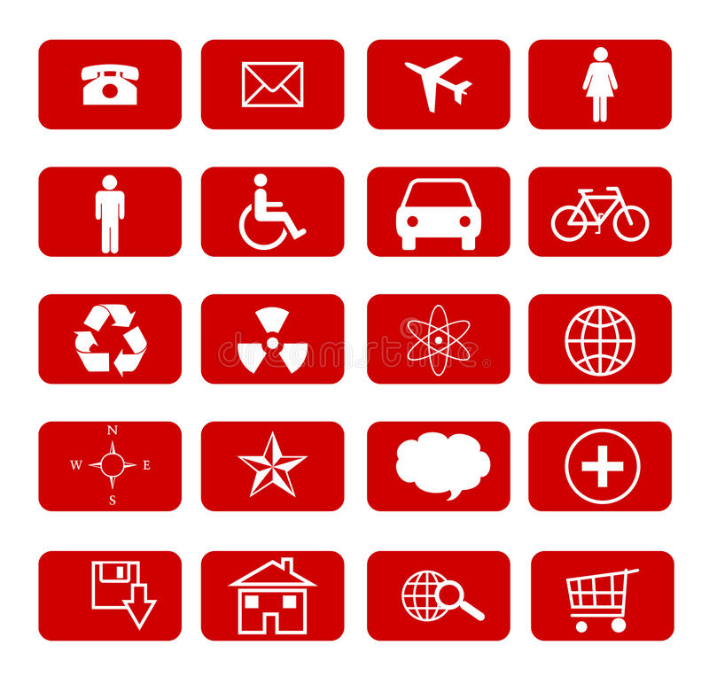 Download Icons set stock illustration. Illustration of file, icons - 27399897
