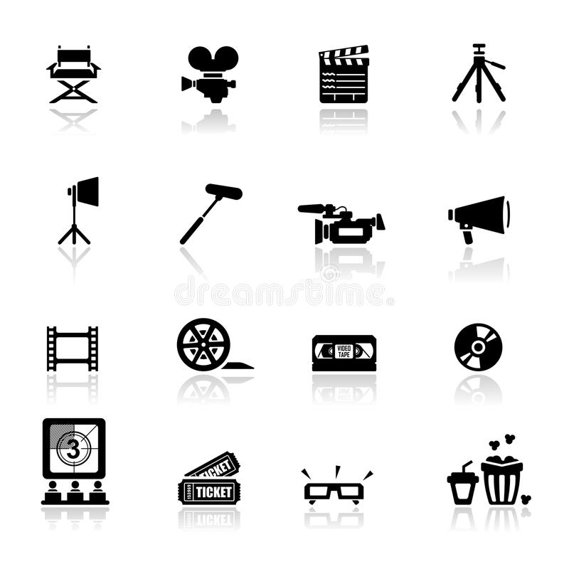 Download Icons Set Cinema And Movies Stock Vector - Image: 19711683