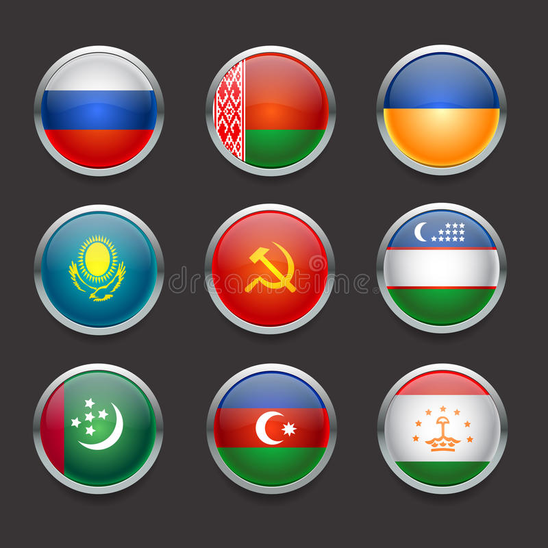 Icons set collection vector flags 01 vector illustration