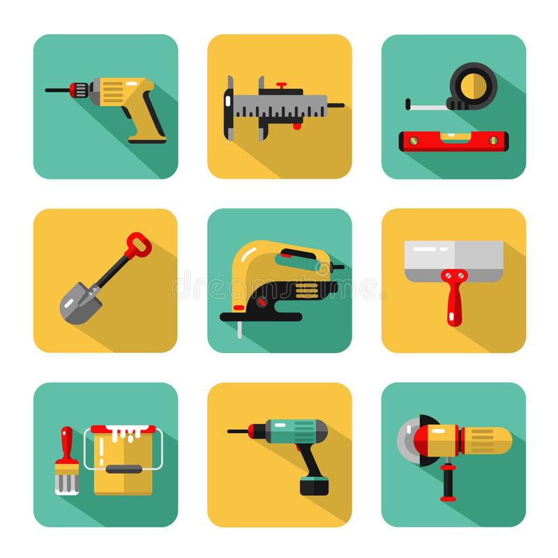 Icons set of construction tools vector illustration
