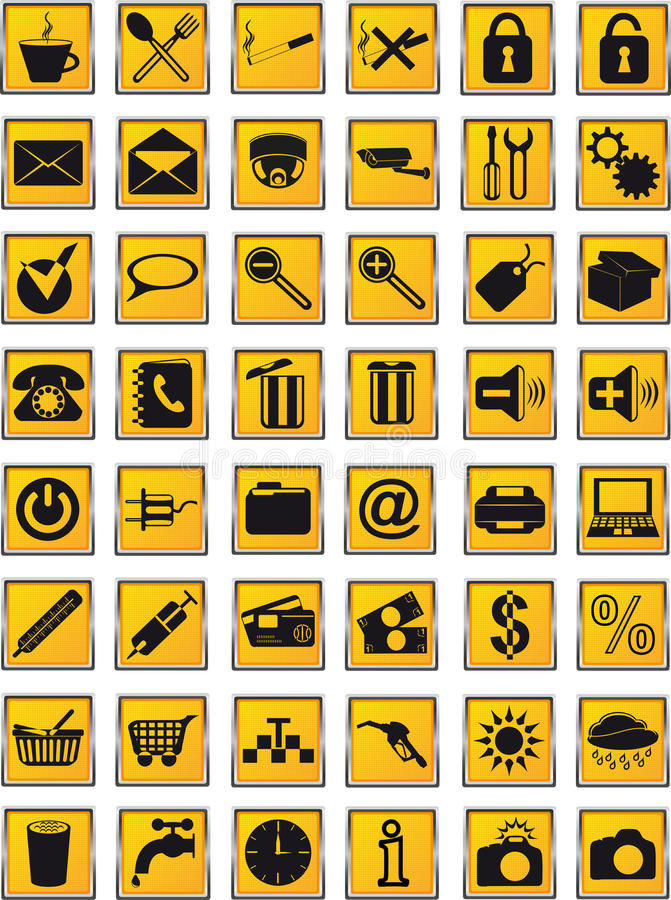 Download Icons Set  For Design Vector Illustration Stock Photography - Image: 26914772