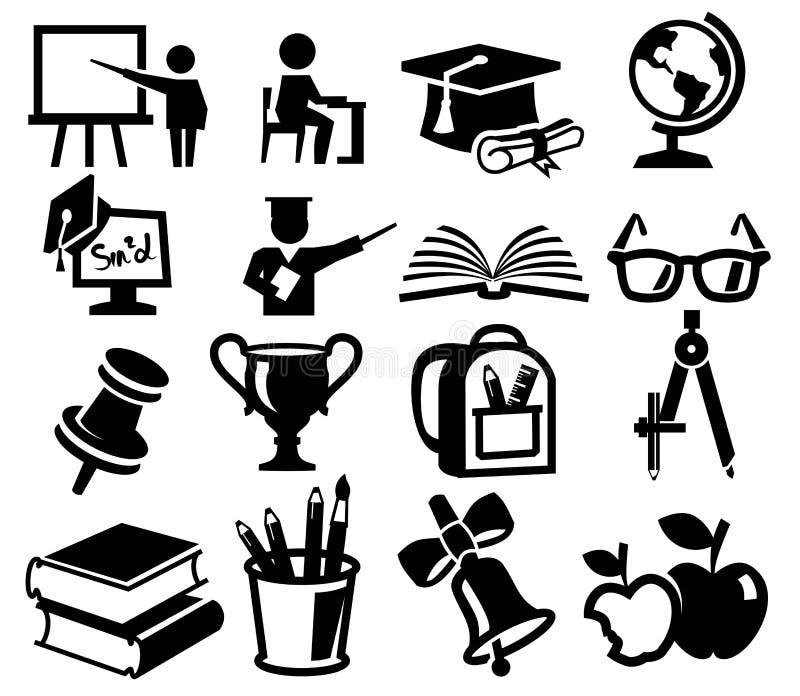 Icons set education vector illustration