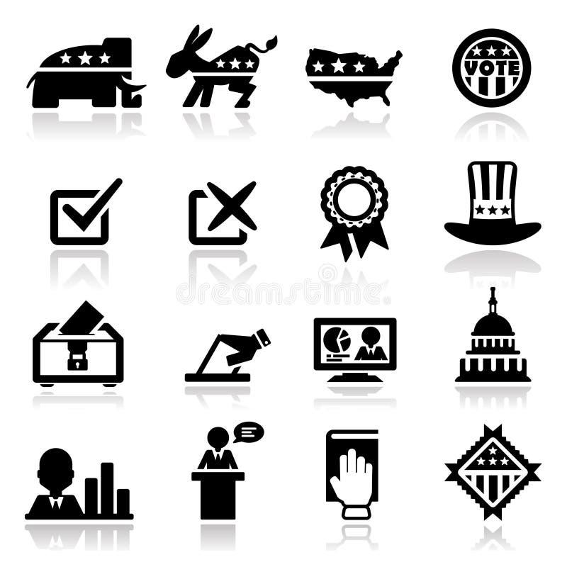 Icons Set Election Royalty Free Stock Photo