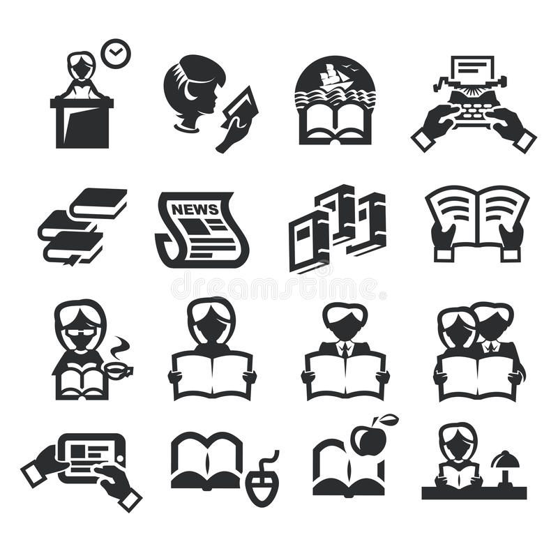 Download Icons set literature stock vector. Illustration of index - 32315497