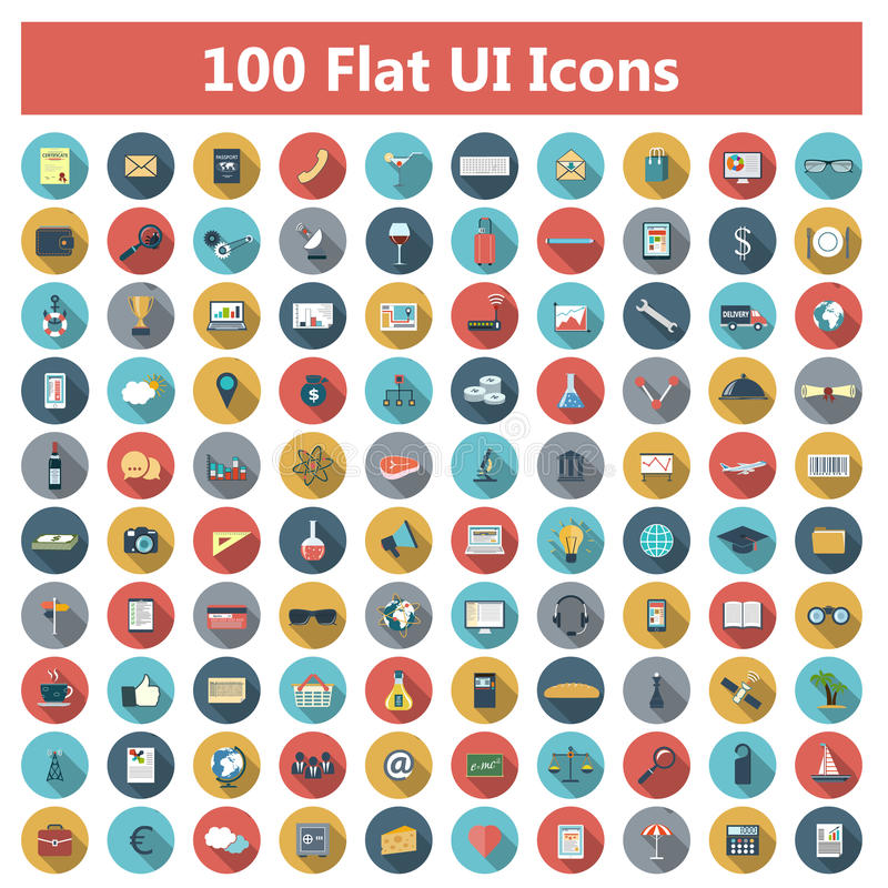 Icons set royalty free illustration