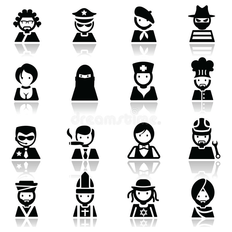 Download Icons Set People Faces Royalty Free Stock Photo - Image: 21512815