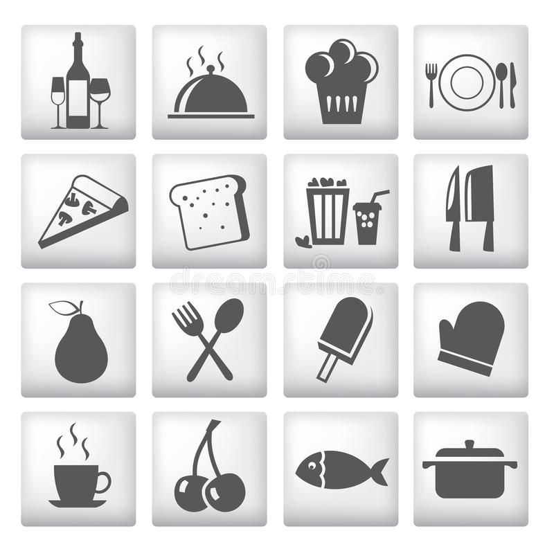Download Icons Set For Restaurant, Cafe And Bar Stock Vector - Image: 24731505