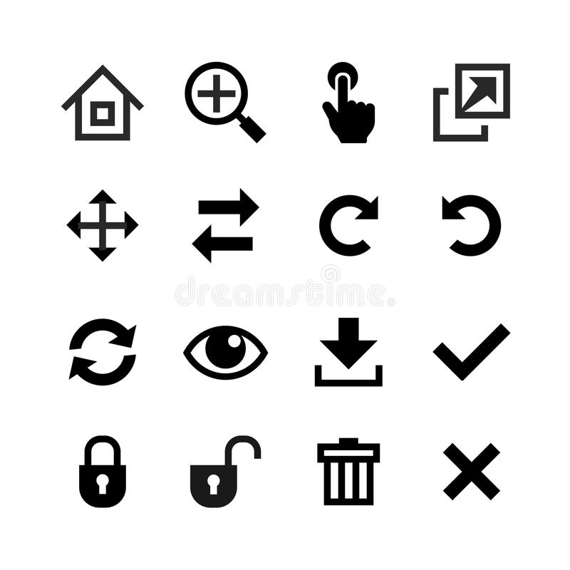Icons set. Toolbar, edit and customize royalty free illustration