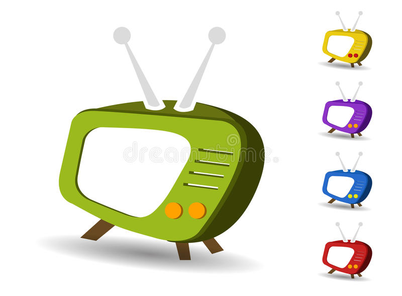Icons set TV vector vector illustration