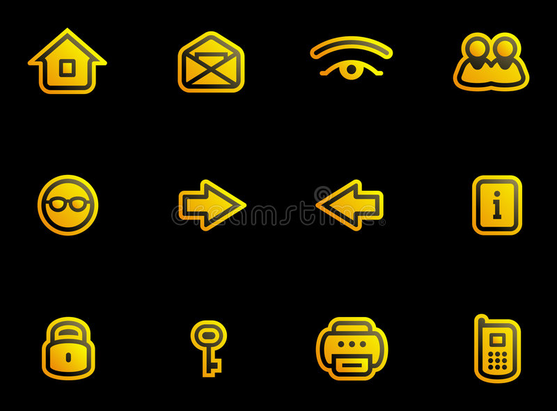 icons set vector иллюстрация вектора