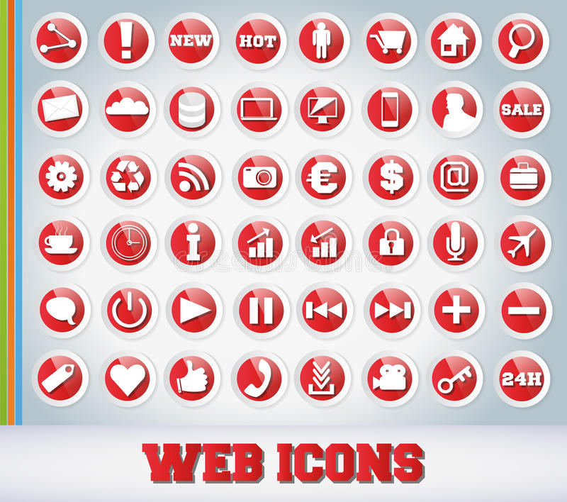 Download Icons Set For Web Applications Royalty Free Stock Photography - Image: 24894837