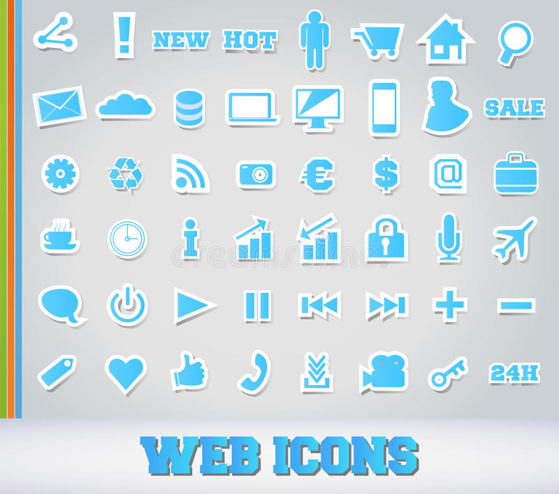 Download Icons Set For Web Applications Stock Illustration - Image: 24908661