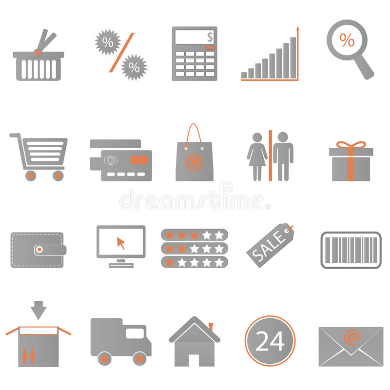 Free Icons Shopping Stock Images - 25451734