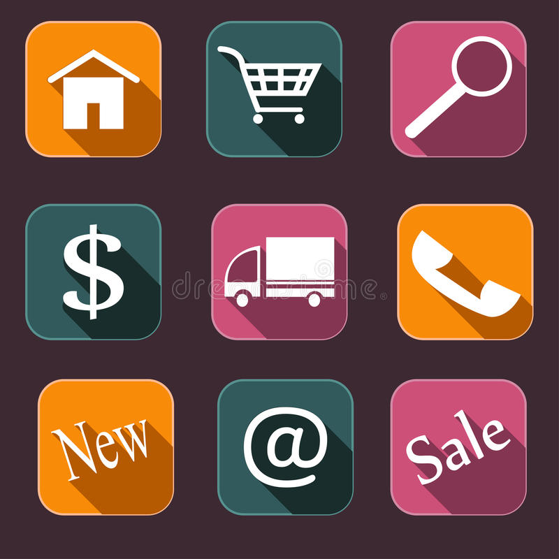 Icons_shopping stock de ilustración
