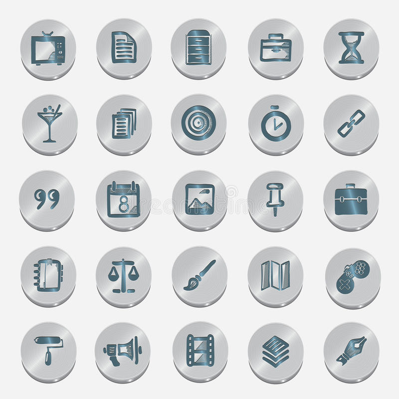 Icons sketches for the site. Isolated on white background royalty free illustration
