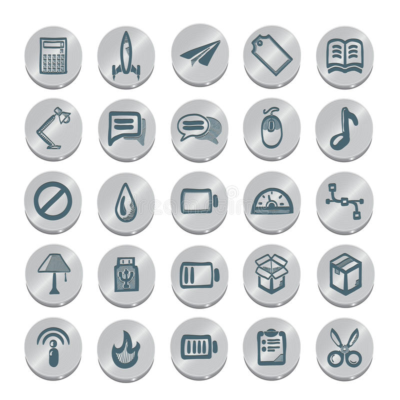 Icons sketches for the site royalty free illustration