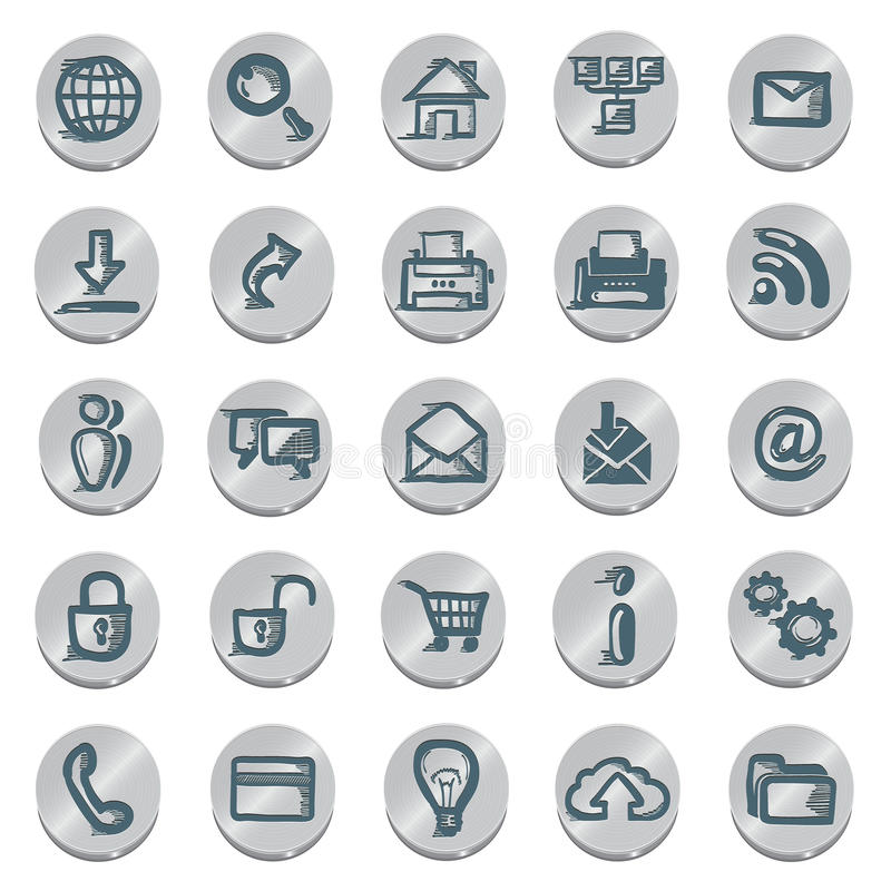 Icons sketches for the site. Isolated on white background vector illustration