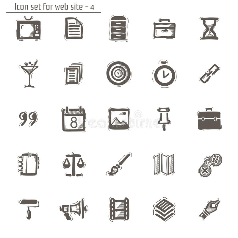 Icons sketches for the site stock illustration