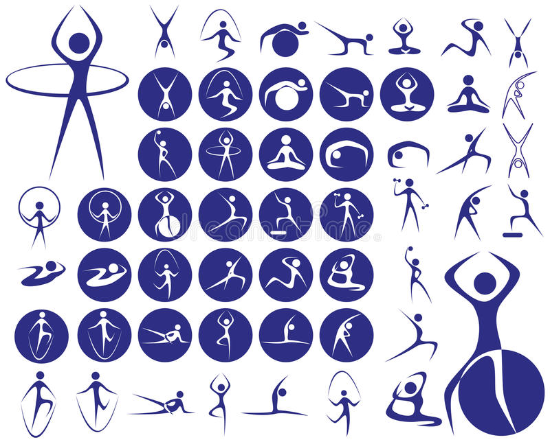 Icons sport fitness royalty free illustration