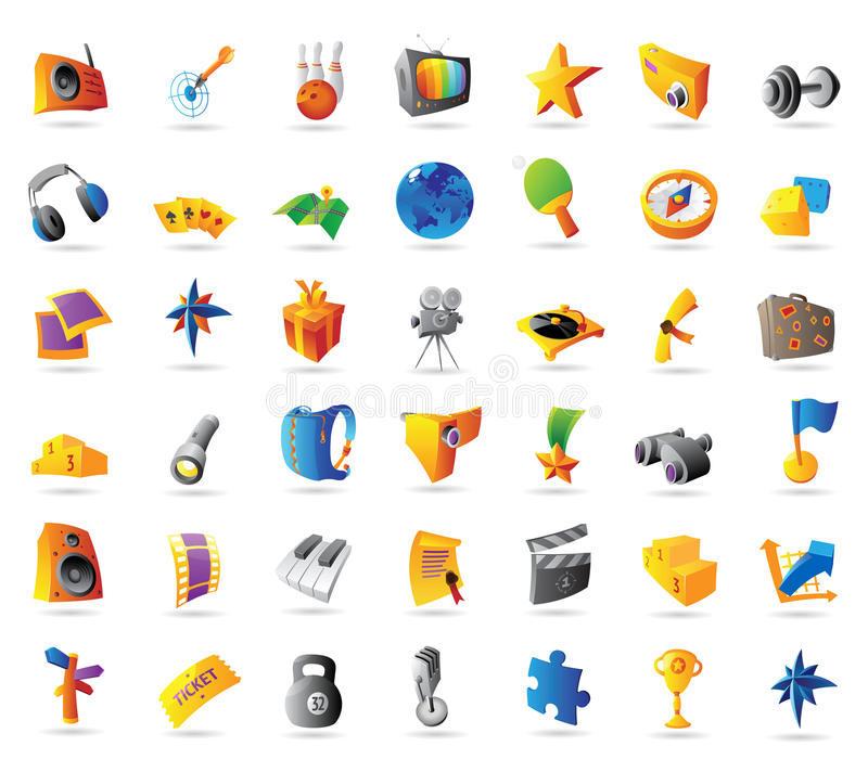 Icons for sport and travel