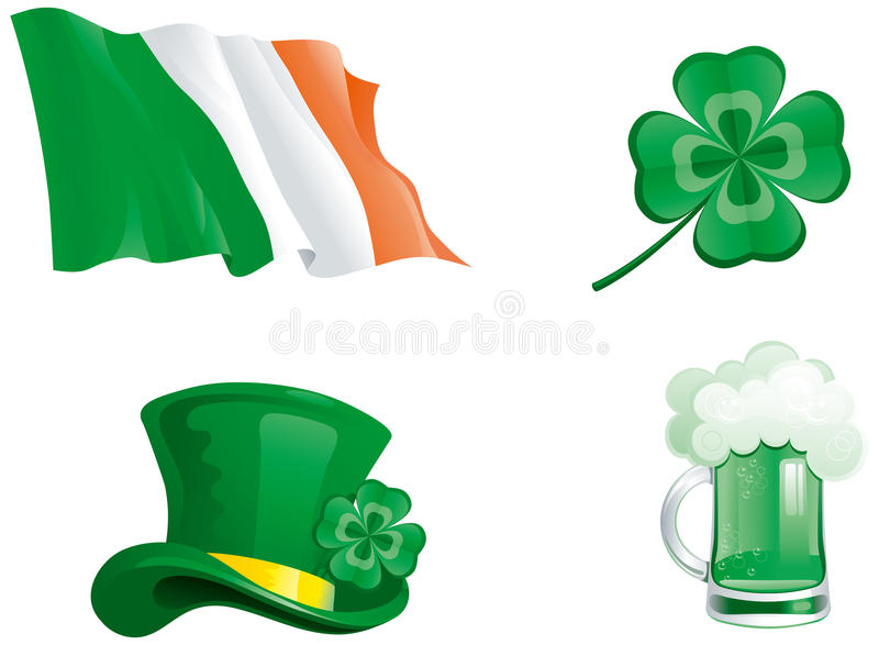 Download Icons for St. Patricks Day stock vector. Illustration of march - 28719660