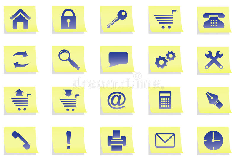 Download Icons on stickers. stock vector. Image of shade, image - 10242166