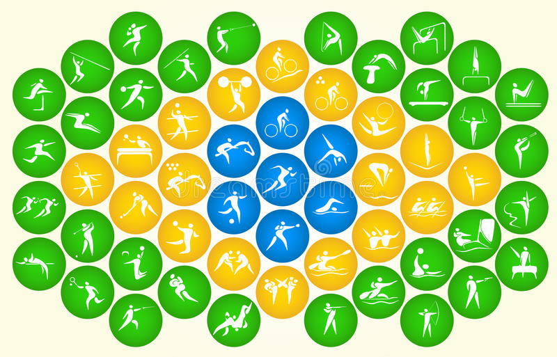 Icons of summer sports stock illustration