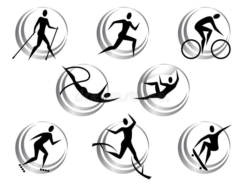 Icons of summer sports vector illustration