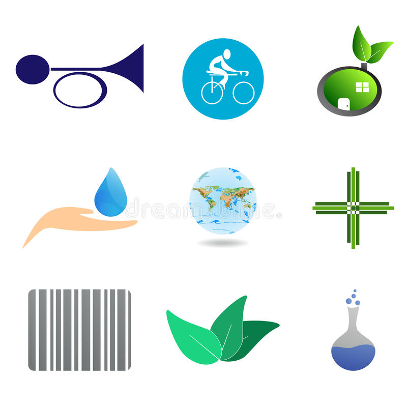 Download Icons and symbols stock photo. Image of corporate, nature - 32612374