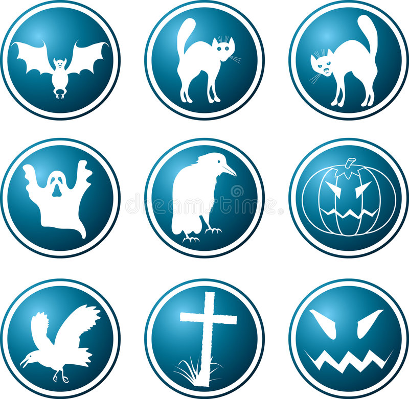 Icons. A theme of a Halloween. royalty free illustration