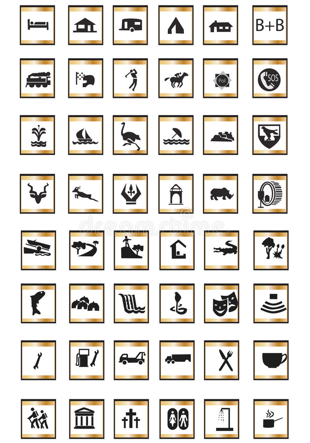Icons Tourist Royalty Free Stock Images