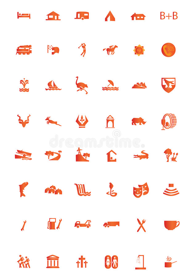 Icons tourist. Tourist icons easy to resize or change color