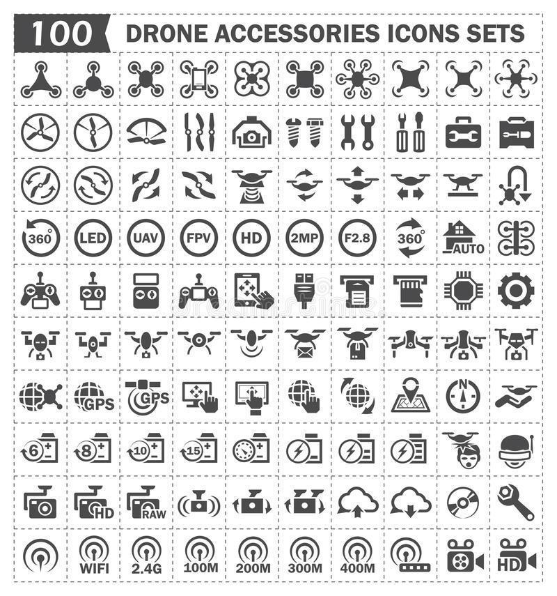 Icons. Toy aircraft and accessories icons sets