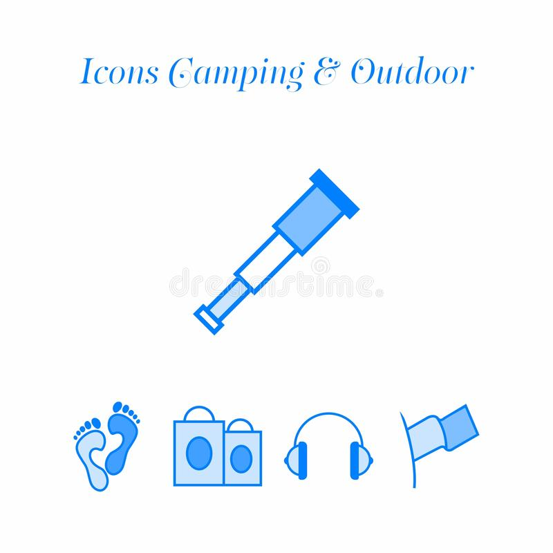Icons travel set. Icons travel, camping, outdoor activities and more vector illustration