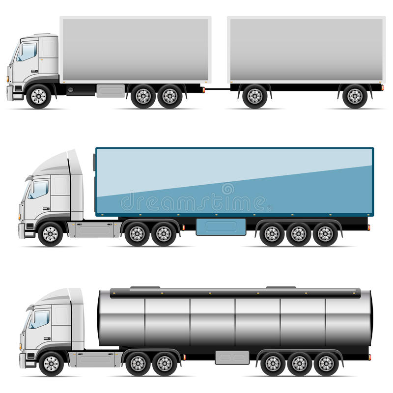 Icons trucks stock illustration