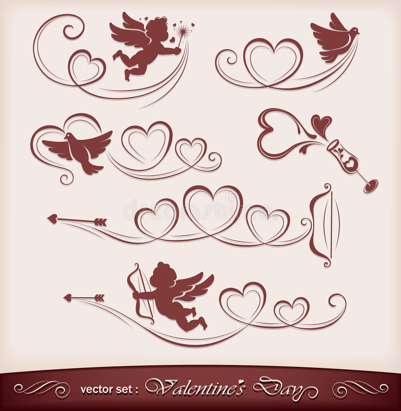 Icons for Valentine's Day royalty free stock images