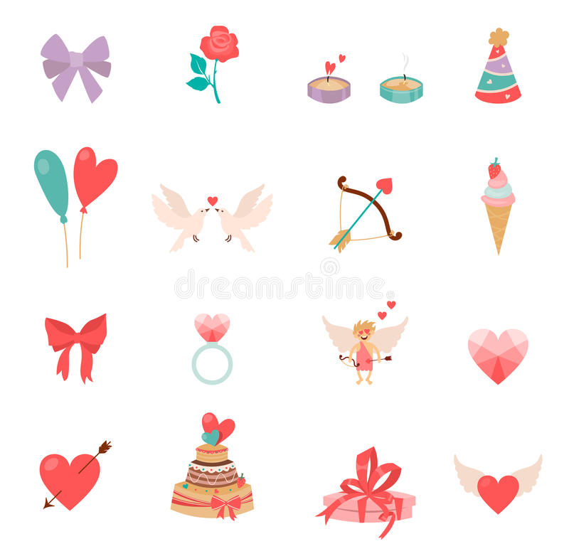 Icons Valentine s Day. royalty free illustration