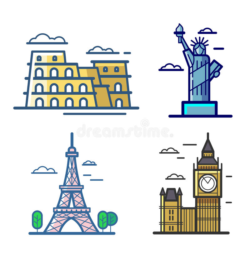Icons vector in line vector illustration