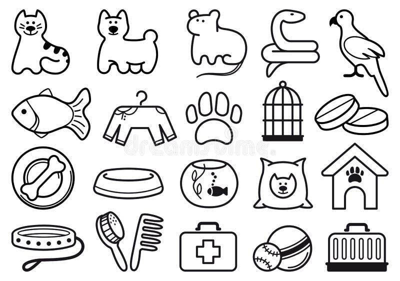 Pets care icon set vector illustration