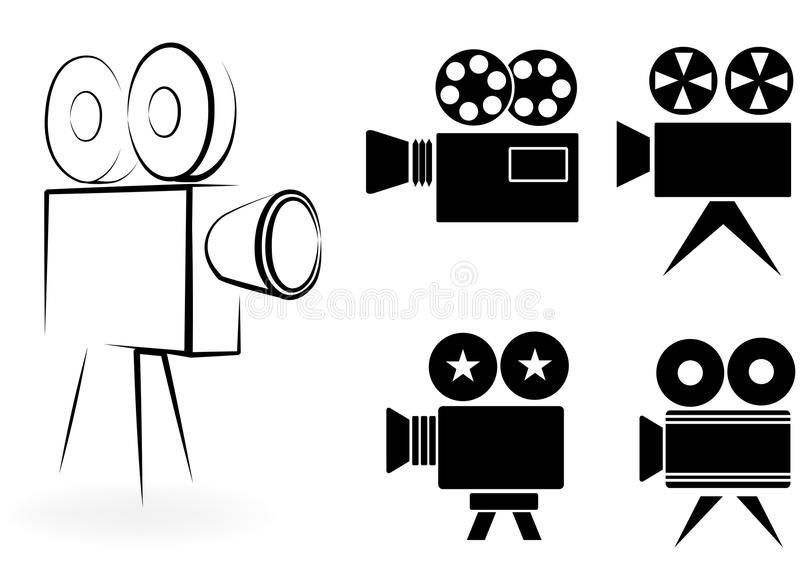 Download Icons Of Video Cameras Royalty Free Stock Photos - Image: 33646248