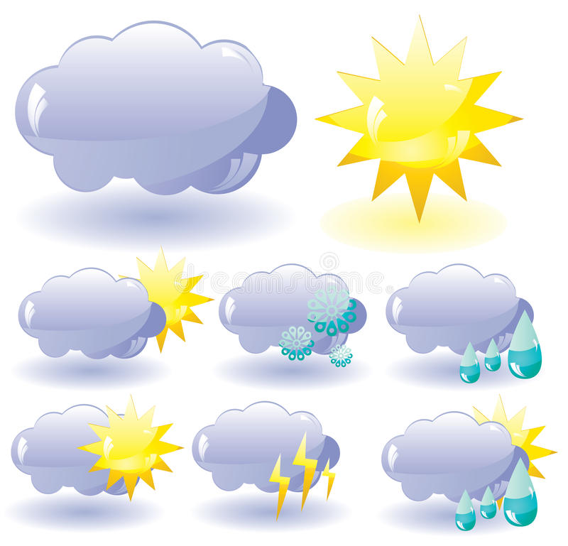 Download Icons For Weather Description Royalty Free Stock Image - Image: 13098596