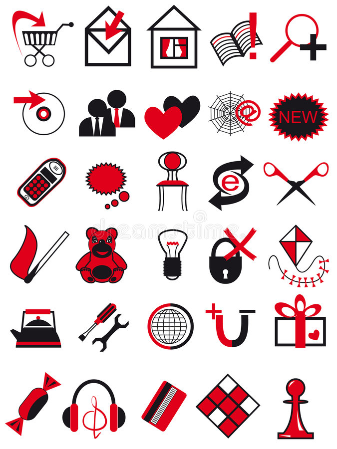 Download Icons for web stock vector. Illustration of pawn, chair - 9049445