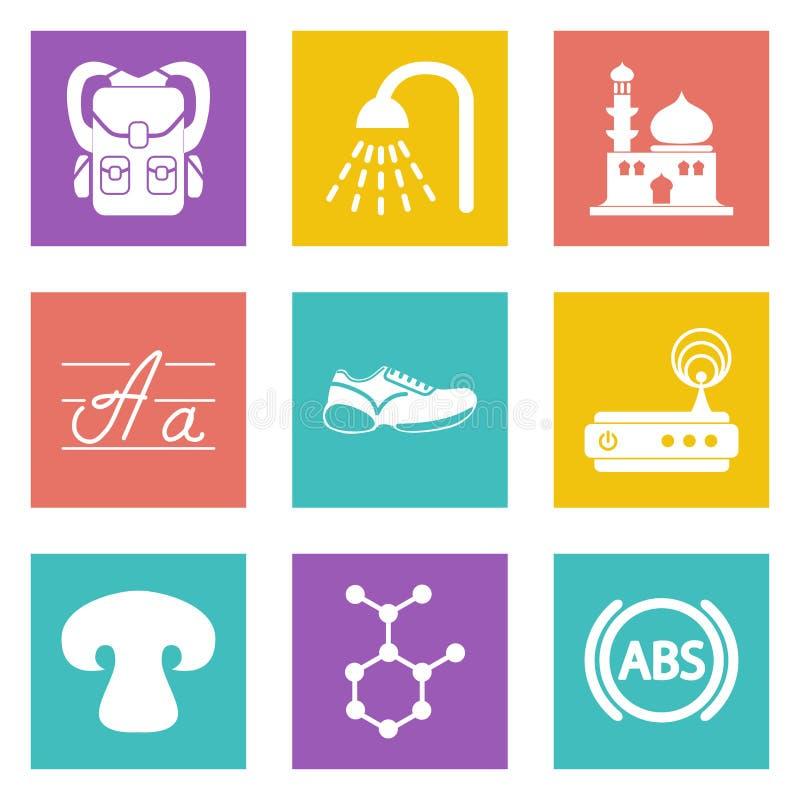 Icons for Web Design set 11 royalty free illustration
